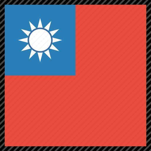asia, flag, orient, taiwan icon