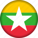 flag, myanmar icon