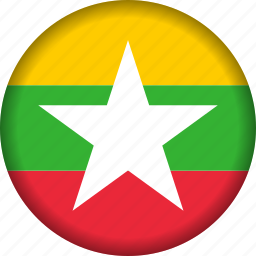 flag, myanmar icon