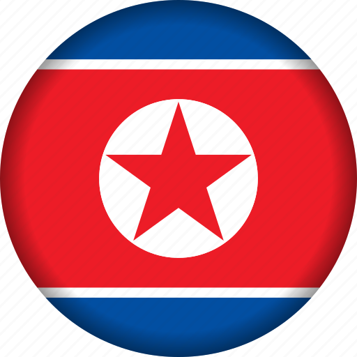 flag, korea, north icon