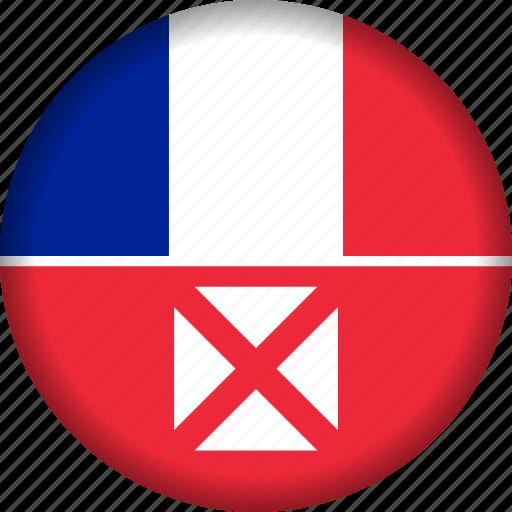 and, flag, futuna, wallis icon
