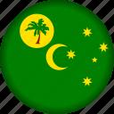 cocos, flag, islands