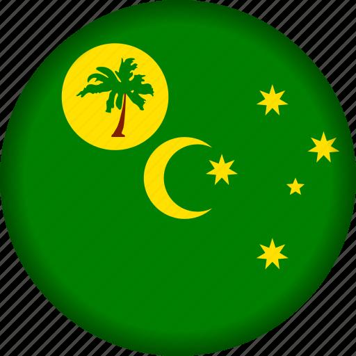 cocos, flag, islands icon