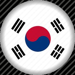 flag, korea, south icon