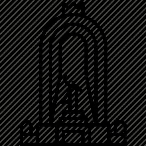 dushanbe, landmark, monument of amir ismail samani, tajikistan icon