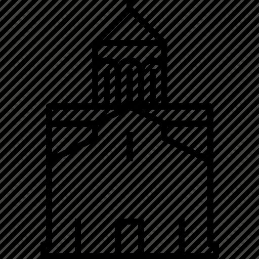 church, georgia, landmark, metekhi, tbilisi icon