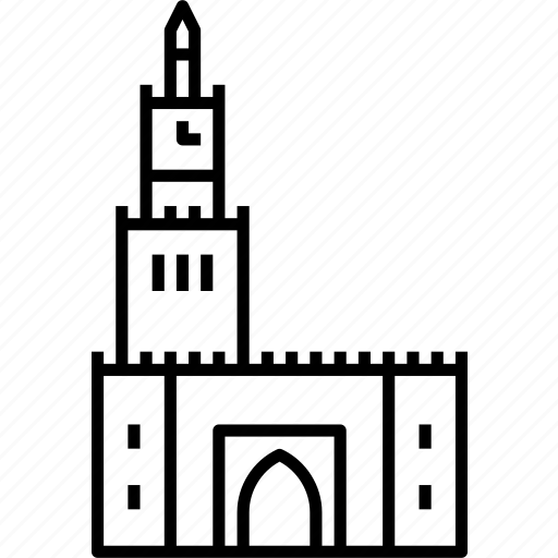 city, kuwait, palace, seif, watch tower icon