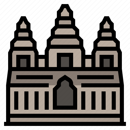 angkor wat, asia, cambodia, city, country, khmer, landmark icon