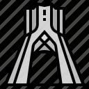 asia, azadi tower, city, country, iran, landmark, tehran icon