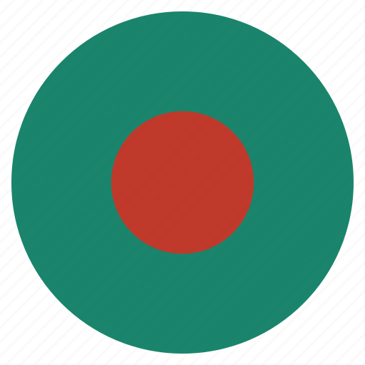 asian, bangladesh, country, flag, national icon