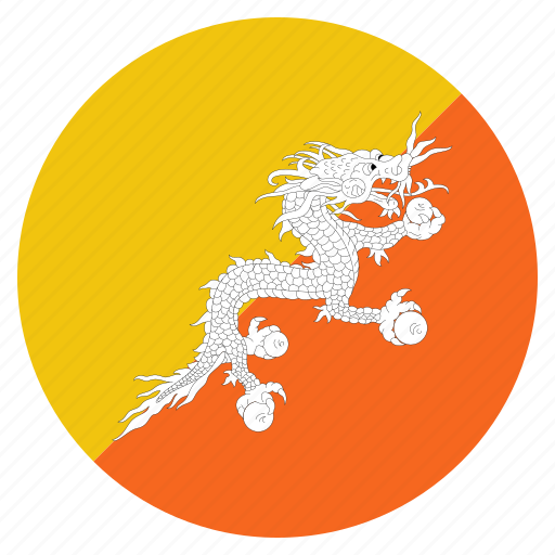 asian, bhutan, bhutanese, country, flag icon