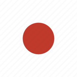 asian, country, flag, japan, national icon