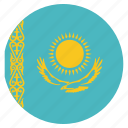 asian, country, flag, kazakhstan, national icon