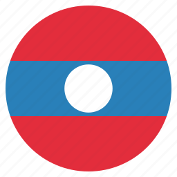 asian, country, flag, laos, national icon