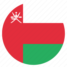 asian, country, flag, national, oman icon