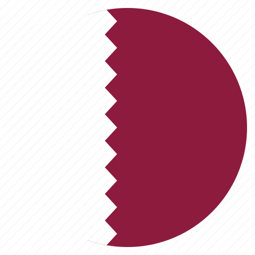 asian, country, flag, national, qatar icon