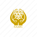 asian, association, flag, saarc, south, south east icon