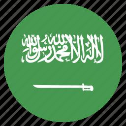 arabia, arabian, asian, country, flag, national, saudi icon