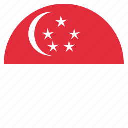 asian, country, flag, national, singapore icon
