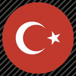 asian, country, flag, national, turkey, turkish icon