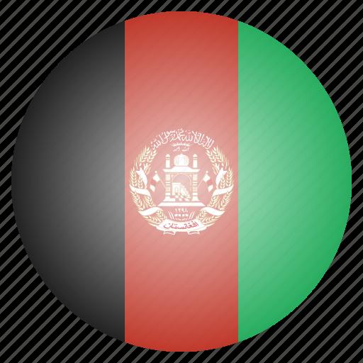afghan, afghani, afghanistan, asian, country, flag, national icon