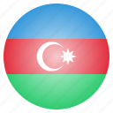 asian, azerbaijan, country, flag, national icon
