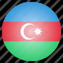 azerbaijan, country, flag, national