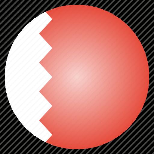 asian, bahrain, country, flag, national icon