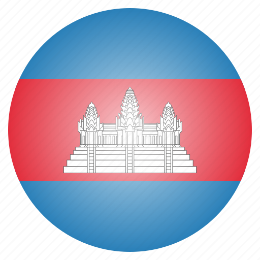 asian, cambodia, cambodian, country, flag icon