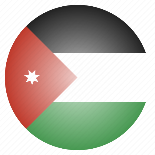 asian, country, flag, jordan, jordanese, national icon