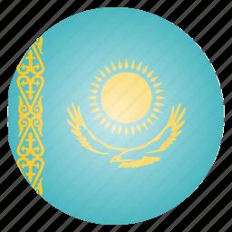 asian, country, flag, kazakhstan, national icon