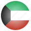 asian, country, flag, kuwait, national icon