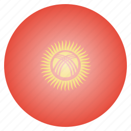asian, country, flag, kyrgyzstan, national icon
