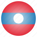 country, flag, laos