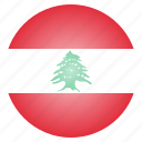 asian, country, flag, lebanese, lebanon, national icon
