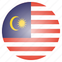 asian, country, flag, malaysia, malaysian, national icon