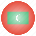 asian, country, flag, maldives, maldivian, national icon