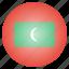 asian, country, flag, maldives, maldivian, national icon