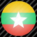 burma, myanmar, country, flag