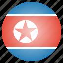 country, flag, korean, north korea icon