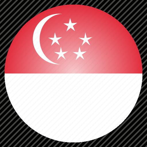 asian, country, flag, national, singapore, singaporean icon