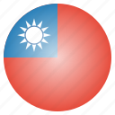 asian, country, flag, national, taiwan icon