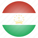 asian, country, flag, national, tajikistan, tajikistani icon