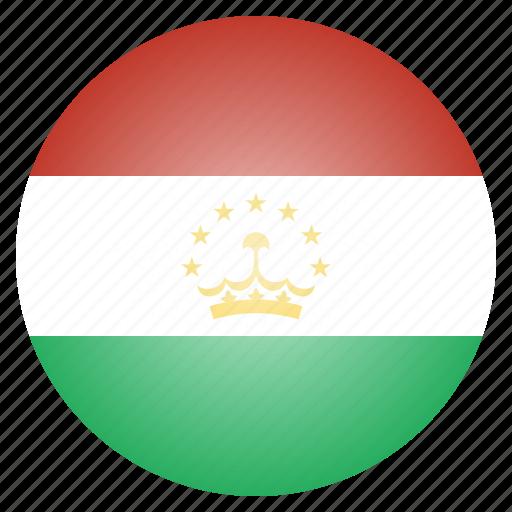 asian, country, flag, national, tajikistan, tajikistani icon