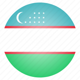 asian, country, flag, national, uzbekistan icon