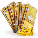 blackjack, card, cards, casino, crown, games, gold, poker icon