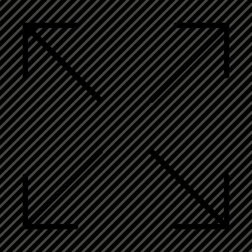 enlarge, expand icon
