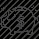 asset, piggy bank, savings, wealth icon