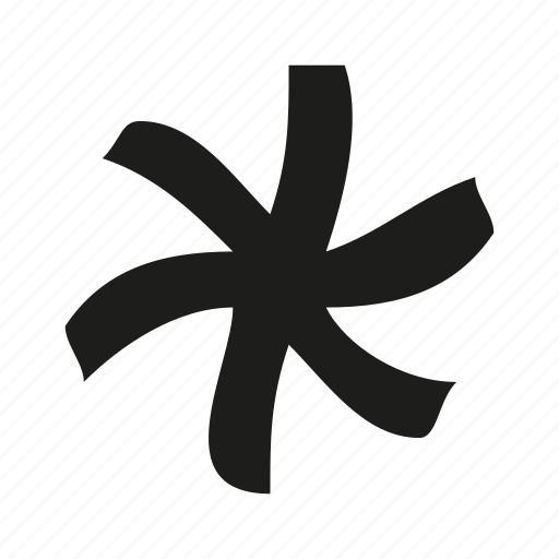 asterisk, modern, notification, punctuation, space icon