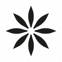 asterisk, flower, leaves, organisism, punctuation, spring, star icon